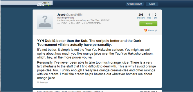 DIDN'T YOU GUYS KNOW THAT ANIME DUBS AND ORANGE JUICE WERE ALL ONE IN THE SAME... GOSH!!!