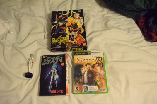 Supid animoo stuff I got (and the autograph of Shenmue 2)
